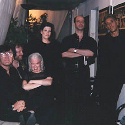 John Cale with Soldier String Quartet and BJ Cole backstage. From left, BJ, Todd Reynolds, Martha Mooke, Dawn Avery, Dave Soldier, John Cale