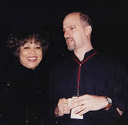 Mavis Staples and Dave Soldier backstage