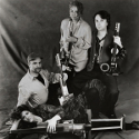 Soldier String Quartet, circa 1993. Clockwise From Bottom: Dawn Avery (nee Buckholz), Dave Soldier, Regina Carter, Ron Lawrence. Photos by Ken Collins